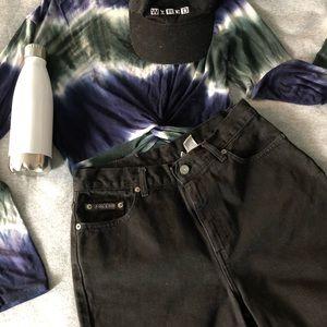 Vintage black high waist denim shorts Calvin Klein